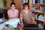 Sociálne pedagogičky (zľava) Lucia Ďanovská aAlena Miklušová zCentra pedagogicko-psychologického poradenstva aprevencie vMartine.