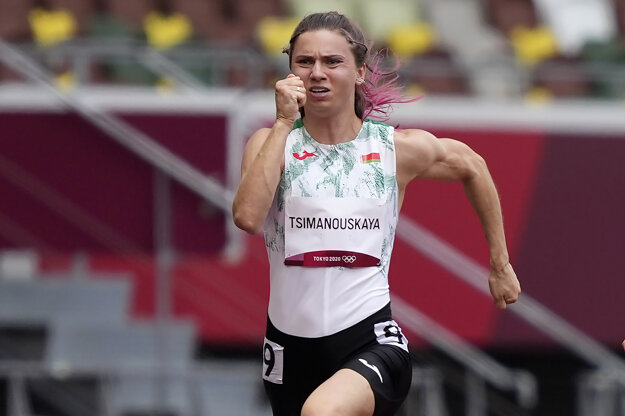 Bieloruská šprintérka Kryscina Cimanovská.