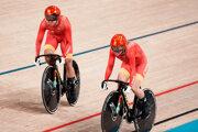 Čínske reprezentantky v dráhovej cyklistike na OH Tokio 2020.