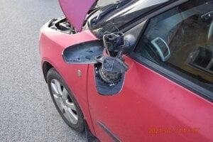 Poškodené auto.