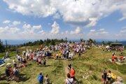 Svätá omša členov Horskej záchrannej služby.