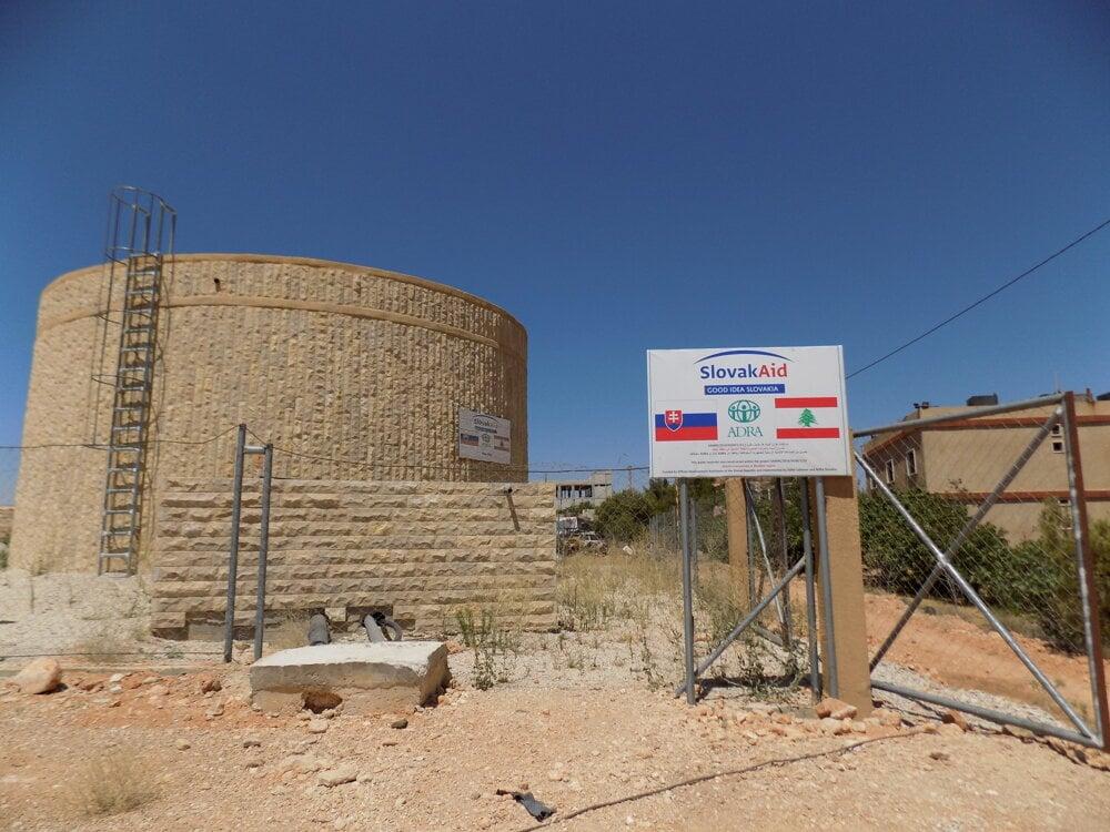 Voda pre Libanon zo slovenskej pomoci.