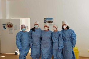 Očkovací tím v trnavskej nemocnici.
