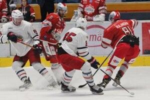 Momentka z prípravbého zápasu proti Bratislava Capitals