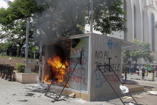 Horiace zariadenie na bitcoin v El Salvadore.