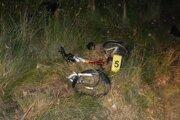 Bicykel po kolízii.