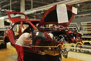 Montáž nového modelu Kia ProCeed na výrobnej linke spoločnosti Kia Motors Slovakia v Tepličke nad Váhom 15. novembra 2018.