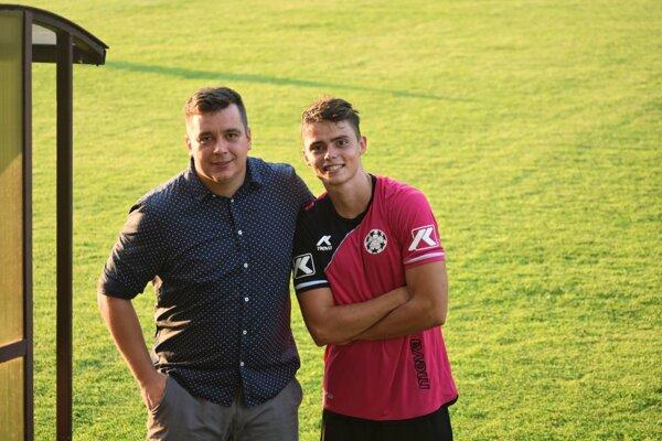 Ján Milčík (vľavo) a priebežne najlepší strelec mužstva Patrik Allina.