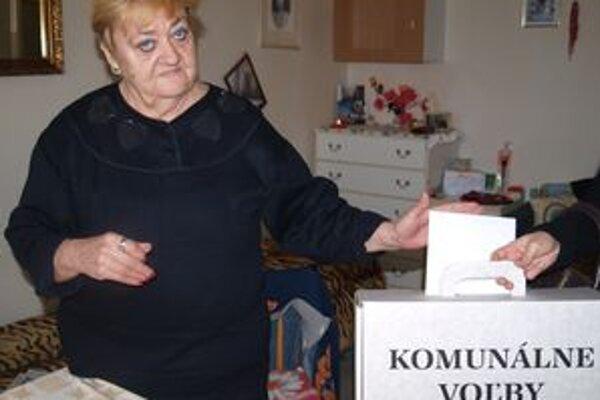 V Dome s opatrovateľskou službou v Nitre volila aj 63-ročná Soňa Kaplanová.
