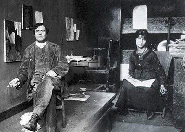 Amedeo Modigliani a Jeanne Hébuterne