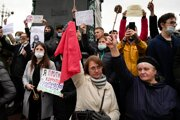 Protesty v Moskve proti výsledkom ruských volieb.