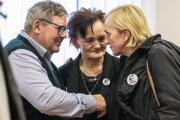Rodičia zavraždených: zľava Jozef Kuciak, Jana Kuciaková a Zlatica Kušnírová.