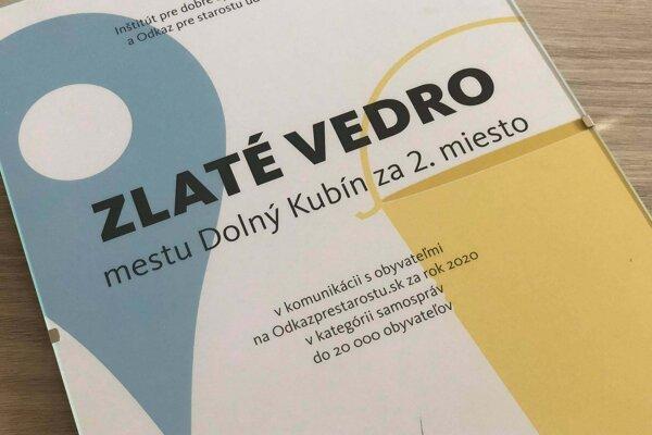Dolný Kubín obsadil 2. miesto v komunikácii s  obyvateľmi  za rok 2020 v kategórii samospráv do 20-tisíc obyvateľov.