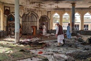 Mešita po výbuchu.