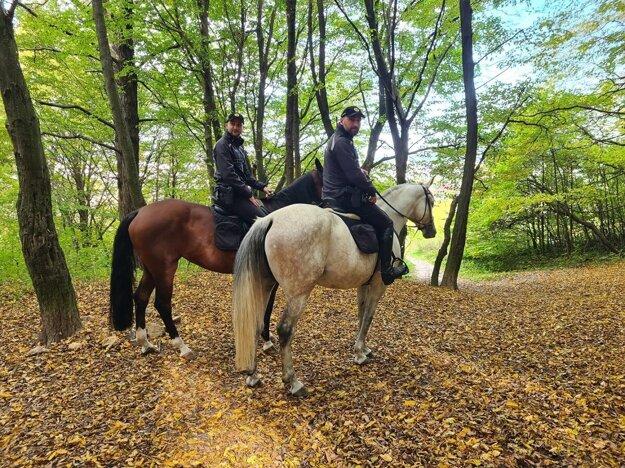 Policajti na koňoch boli súčasťou preventívnej akcie.