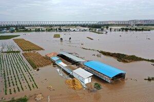 Záplavy v Šan-si.