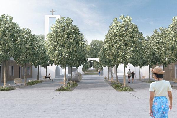 Takto by mal po novom vyzerať vstup na košický verejný cintorín. Vznikne päť funkčných plôch.
