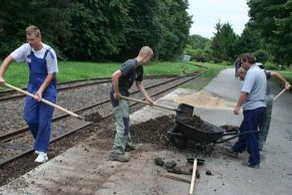 Brigády v SPM v Nitre sa zúčastnilo 22 dobrovoľníkov. Napriek počasiu urobili všetko, čo bolo naplánované.