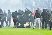 Bitka chuligánov v zápase Trnava - Slovan.