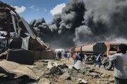 Po bombardovaní mesta Mekele.