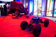 Mobilný robot Androver z dielne RoboTech Vision vystavený v slovenskom pavilóne na Svetovej výstave Expo Dubaj 2020 v Dubaji.