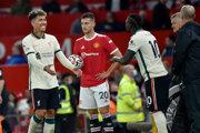 Momentka zo zápasu Manchester United - Liverpool.