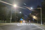 Osvetlili priechod pre chodcov hlavnej ceste I/64.