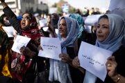 Demonštrantky v Afganistane.