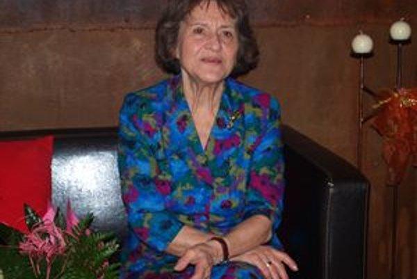 Žofia Martišová s v Divadle v kaviarni pospomínala na svoje divadelné začiatky aj súčasnosť.