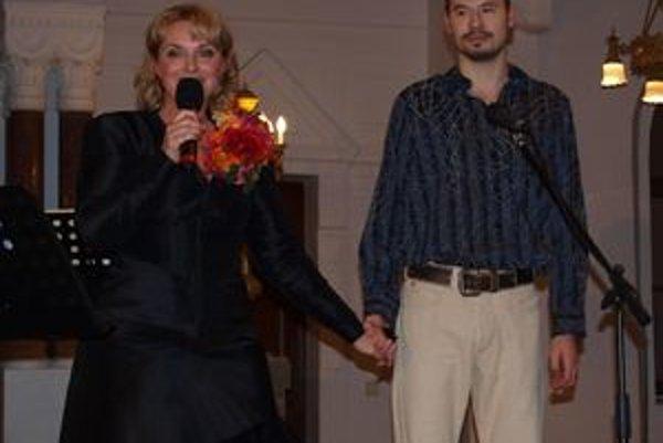 Eva Pavlíková s kolegom Martinom Fratričom.