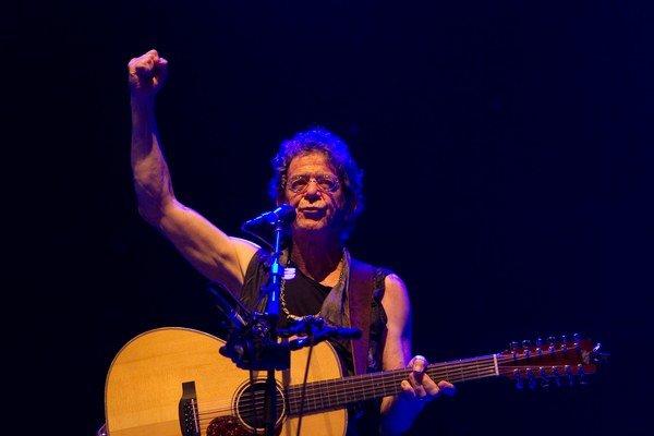 Lou Reed počas vlaňajšieho koncertu na Pohode.