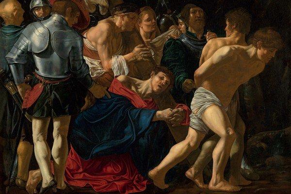 Cecco del Caravaggio (Francesco Boneri): Kristus padá pod krížom. 1610 – 1620. Bratislava, Slovenská národná galéria
