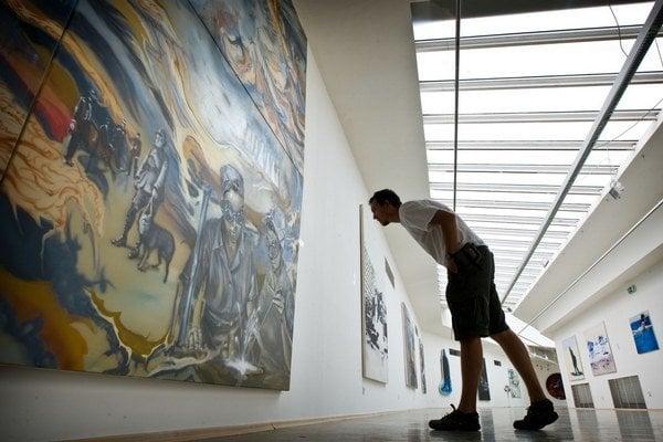 Z výstavy v bratislavskom Dome umenia. Výstava potrvá do 14. augusta.