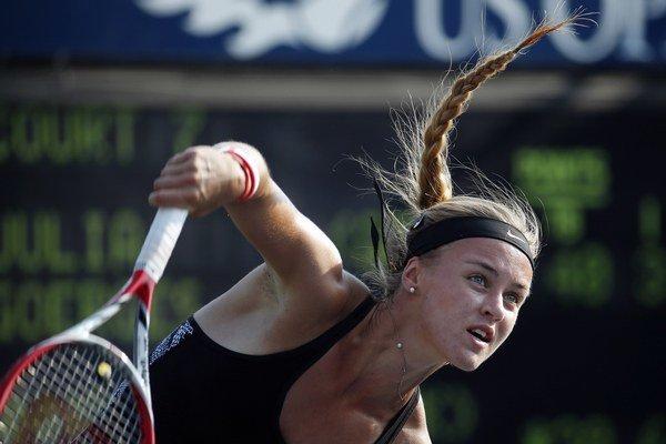 Karolína Schmiedlová môžu doplniť Dominiku Cibulkovú v treťom kole US Open.