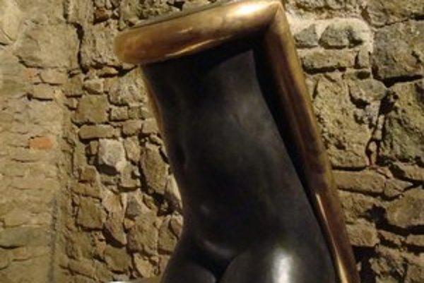 Z výstavy Štefana Prokopa v bratislavskej Galérii Statua v Pálffyho paláci na Zámockej ulici.