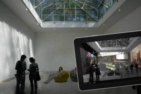 Zatiaľ jediná vizualizácia pavilónu – dôležitý je totiž obsah, ktorý uvidia diváci prostredníctvom tabletov.