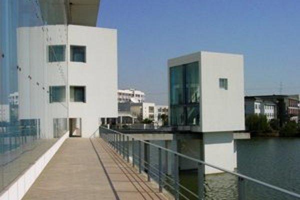 Knižnica Wenzheng College, na ktorej začal Wang Šu pracovať v roku 1999.