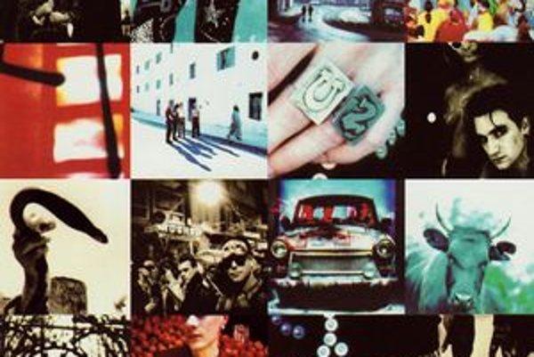 Radikálnu štýlovú premenu írskej kapely U2 ilustroval aj obal Achtung Baby. Čiernobiele portréty z predchádzajúcich albumov vystriedala pestrá postmoderná farebná koláž.