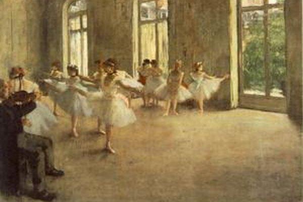 Edgar Degas bol známy najmä maľbami tanečníc, baletiek.