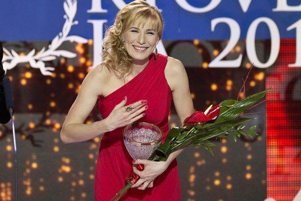 Dvojnásobná zlatá olympijská víťazka Anastasia Kuzminová vyhrala aj anketu Športovec roka 2015.