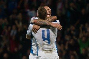 Slovenskí futbalisti zdolali Španielsko 2:1.