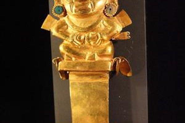 Obradný nôž tumi z brnianskej výstavy pokladov Inkov.