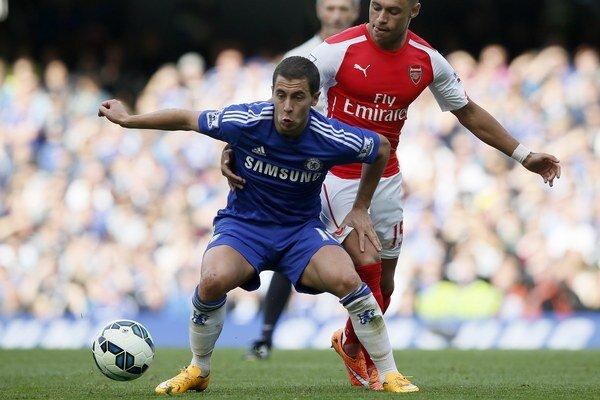 Eden Hazard z Chelsea vpredu.