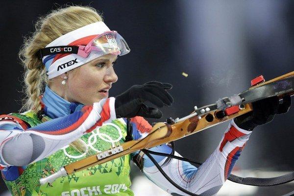 Gabriela Soukalová má zo Soči dve strieborné medaily.