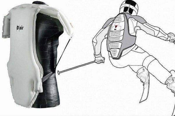 Airbag budú mať lyžiari umiestnený na tele.