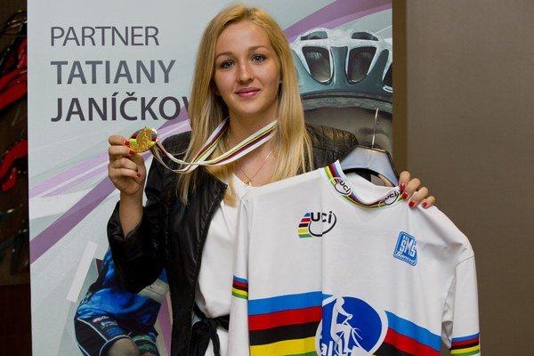 Cyklotrialistka Tatiana Janíčková.