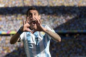 Argentínsky hráč Angel di Maria.