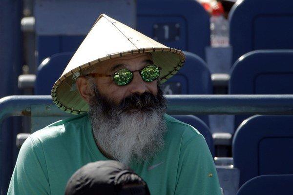 Divák na US Open.