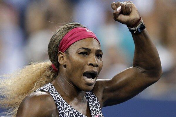 Serena sa takto potešila z postupu do semifinále.