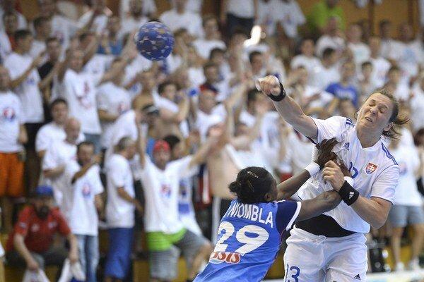 Katarína Dubajová v zápase proti Francúzsku.